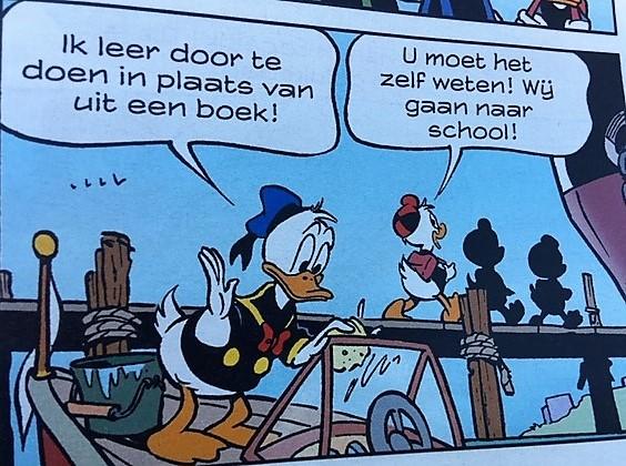 Donald Duck buitenleren